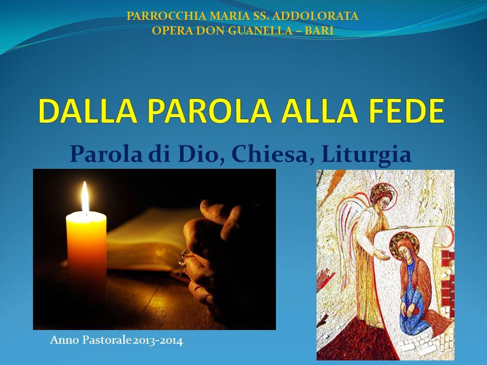Parola di Dio, Chiesa, Liturgia