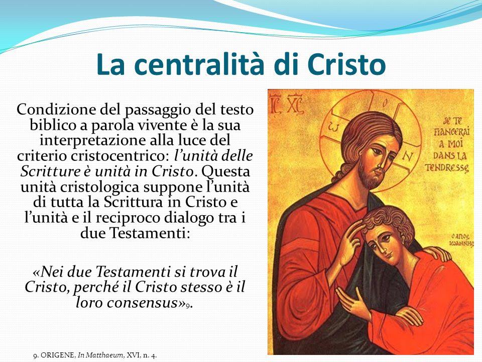 La centralità di Cristo