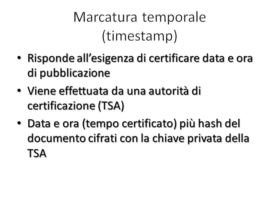 Marcatura temporale (timestamp)