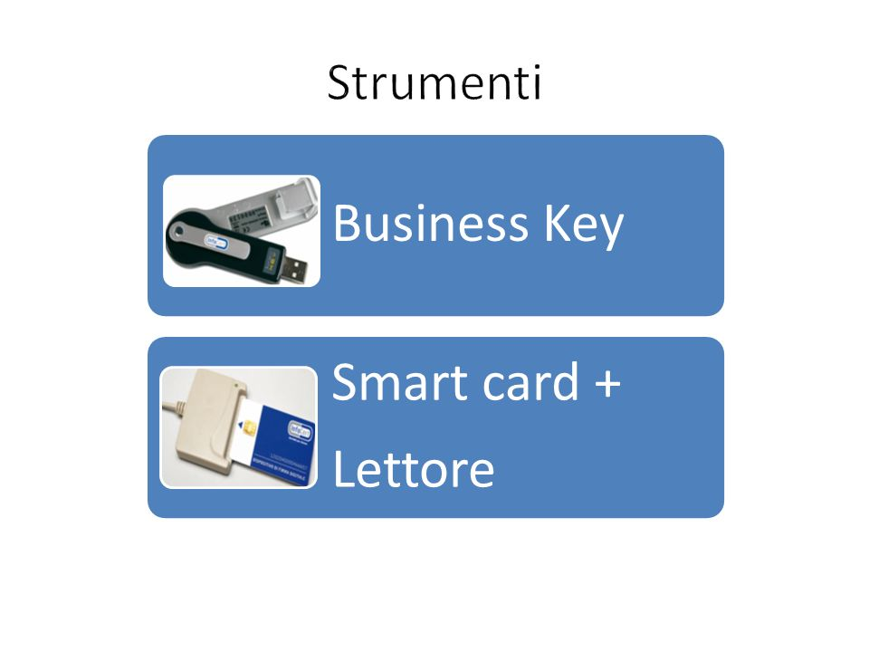 Strumenti Business Key Lettore Smart card +