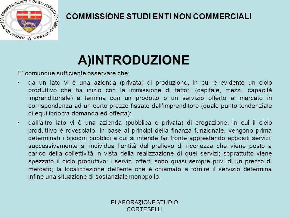 C COMMISSIONE STUDI ENTI NON COMMERCIALI