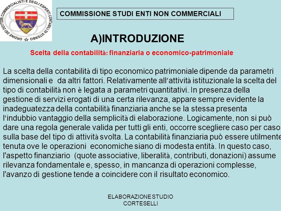 ELABORAZIONE STUDIO CORTESELLI