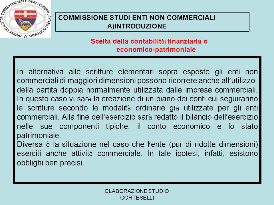 Scelta della contabilità: finanziaria o economico-patrimoniale