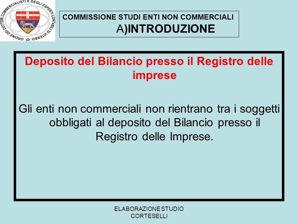 Deposito del Bilancio presso il Registro delle imprese