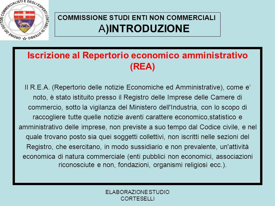 Iscrizione al Repertorio economico amministrativo (REA)