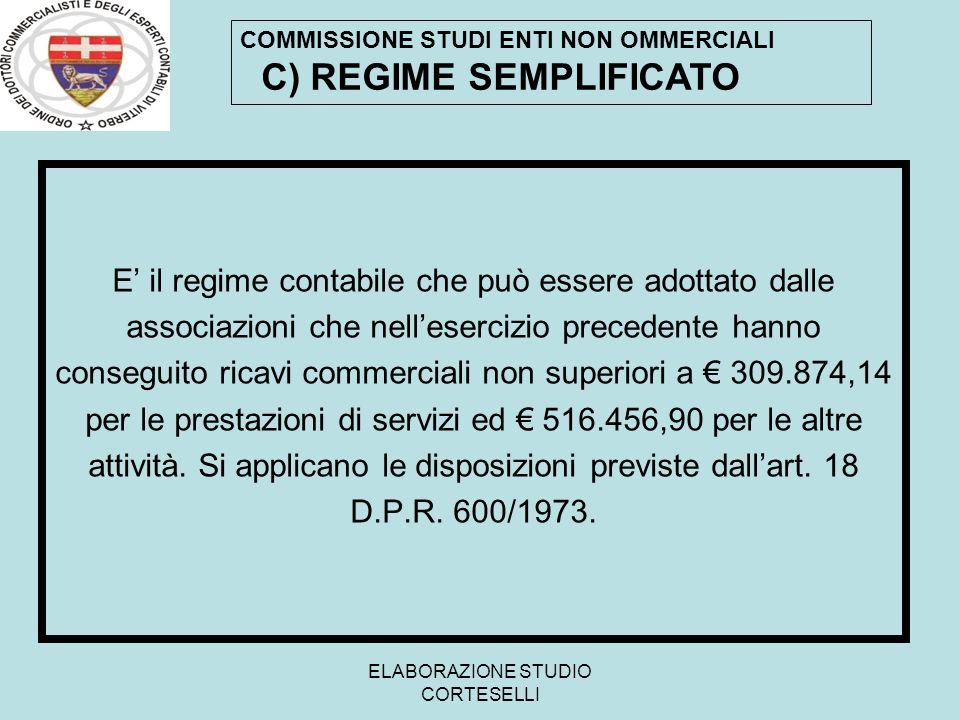 C) REGIME SEMPLIFICATO