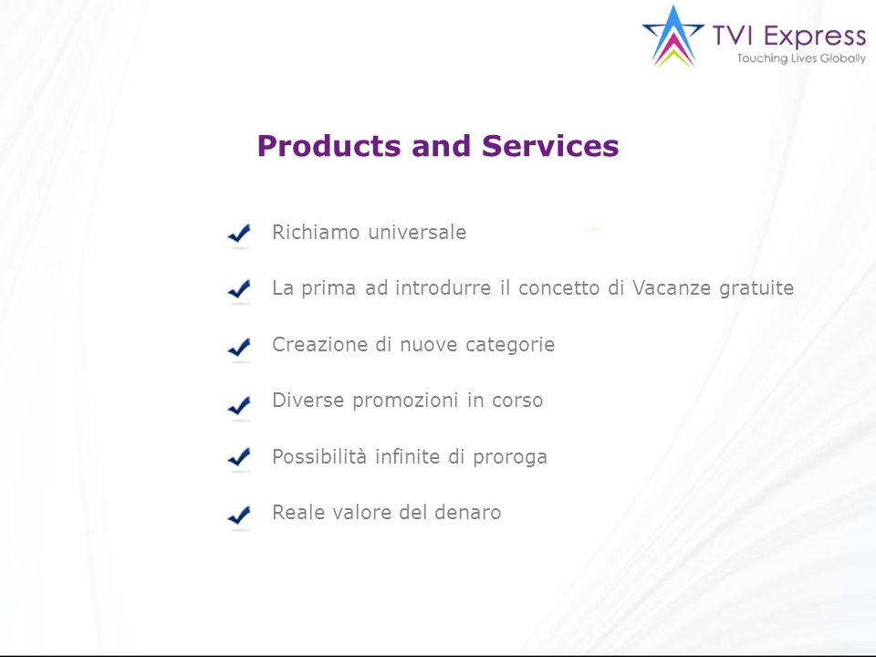 Products and Services Richiamo universale