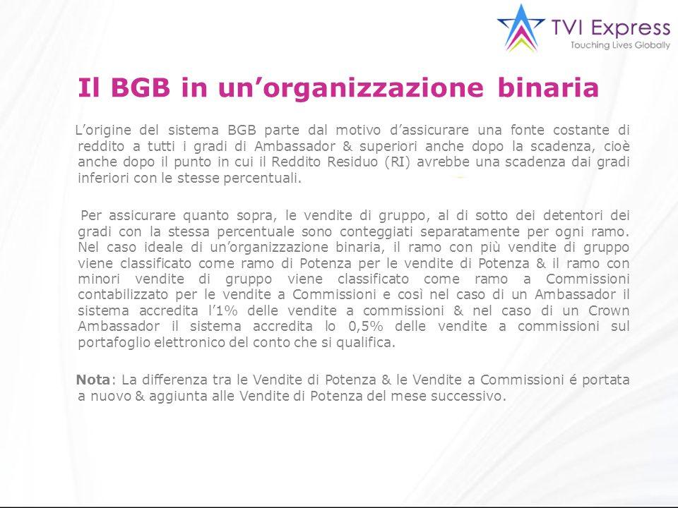 Il BGB in un'organizzazione binaria