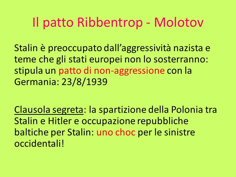 Il patto Ribbentrop - Molotov