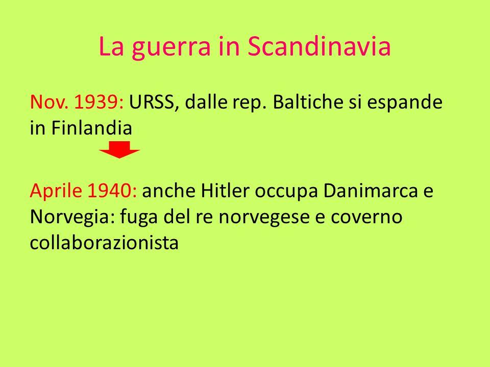 La guerra in Scandinavia
