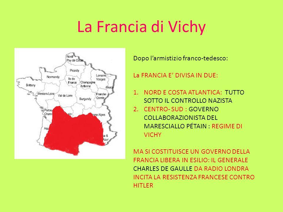 La Francia di Vichy Dopo l'armistizio franco-tedesco: