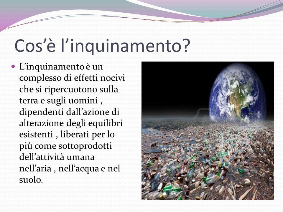 Cos'è l'inquinamento