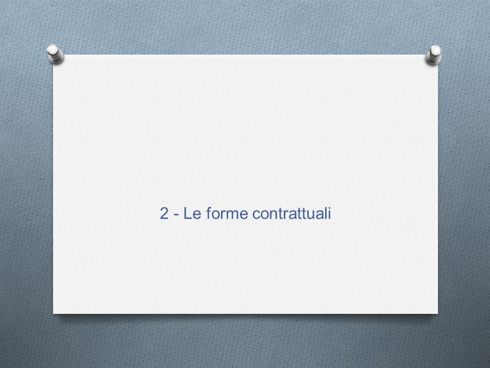 2 - Le forme contrattuali