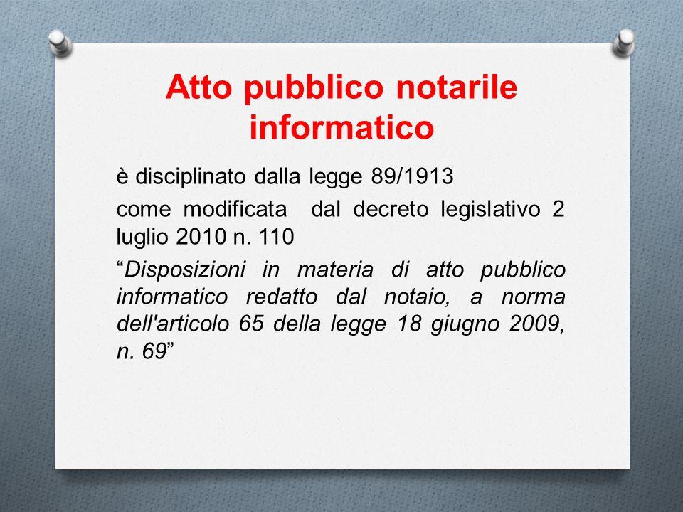 Atto pubblico notarile informatico