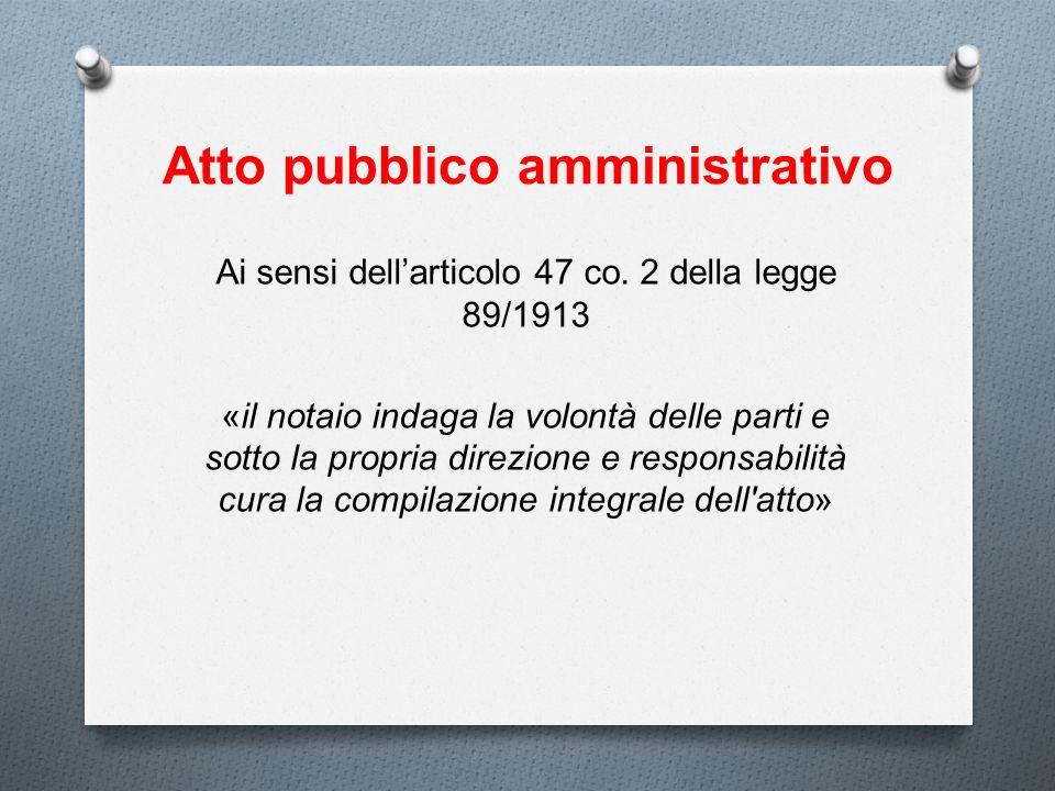 Atto pubblico amministrativo