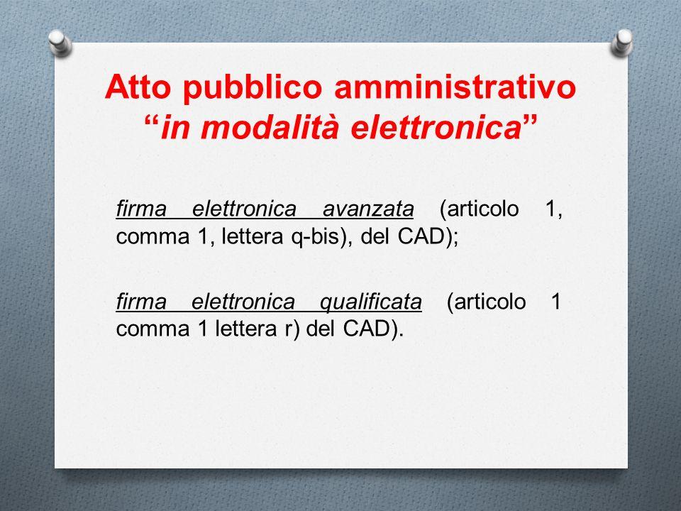 Atto pubblico amministrativo in modalità elettronica