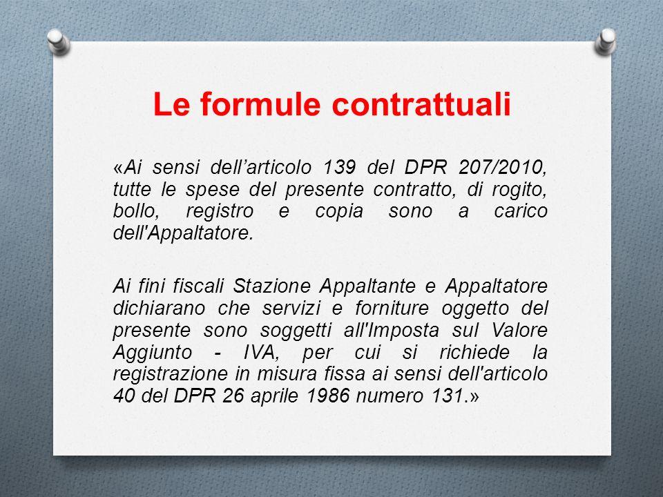 Le formule contrattuali