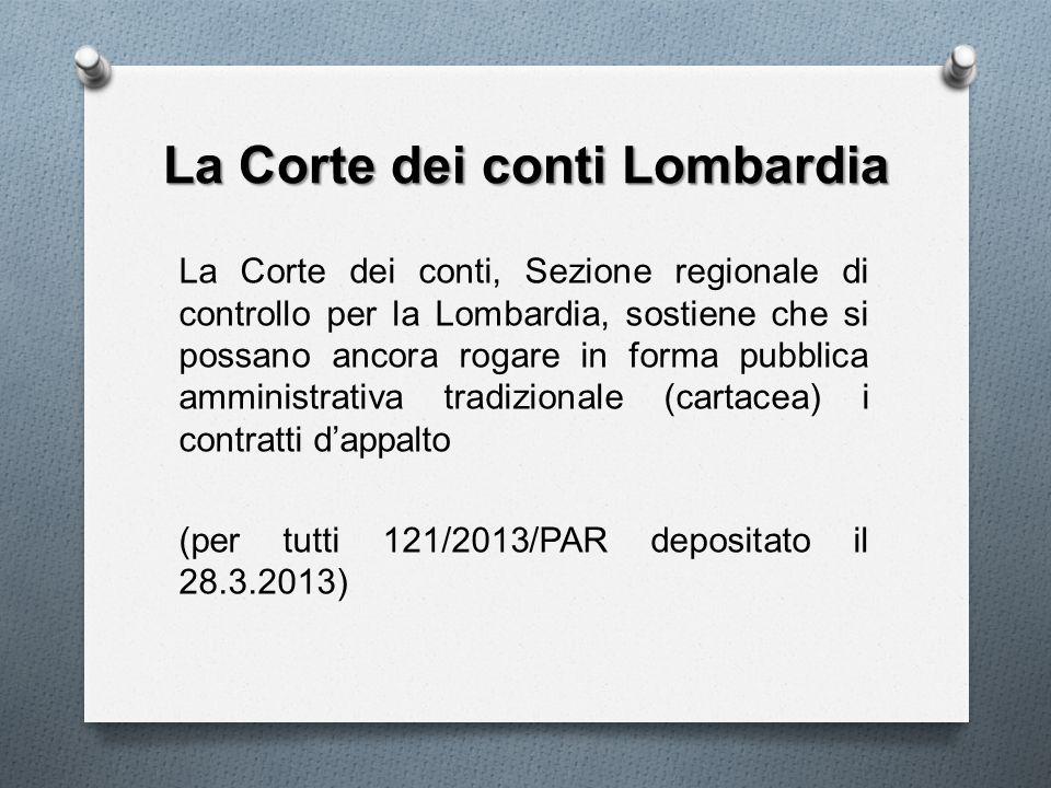 La Corte dei conti Lombardia