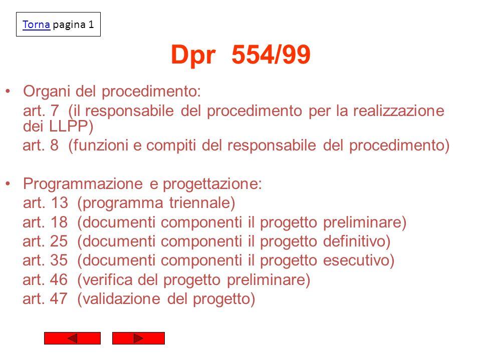 Dpr 554/99 Organi del procedimento: