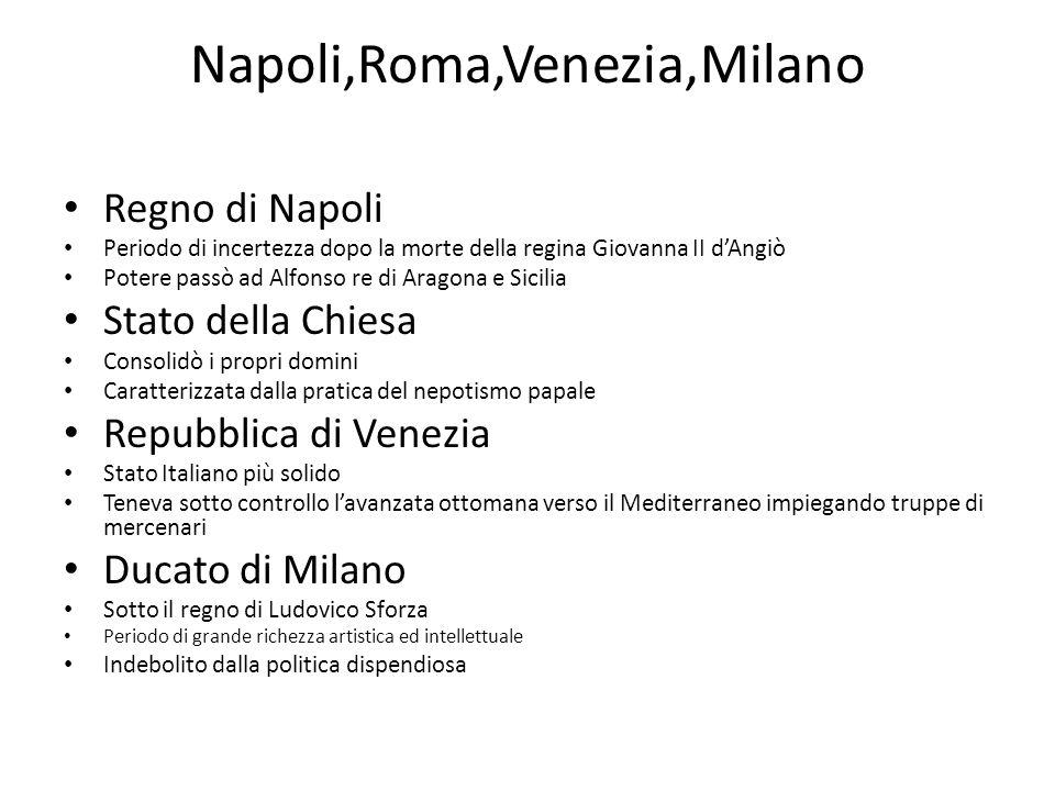 Napoli,Roma,Venezia,Milano