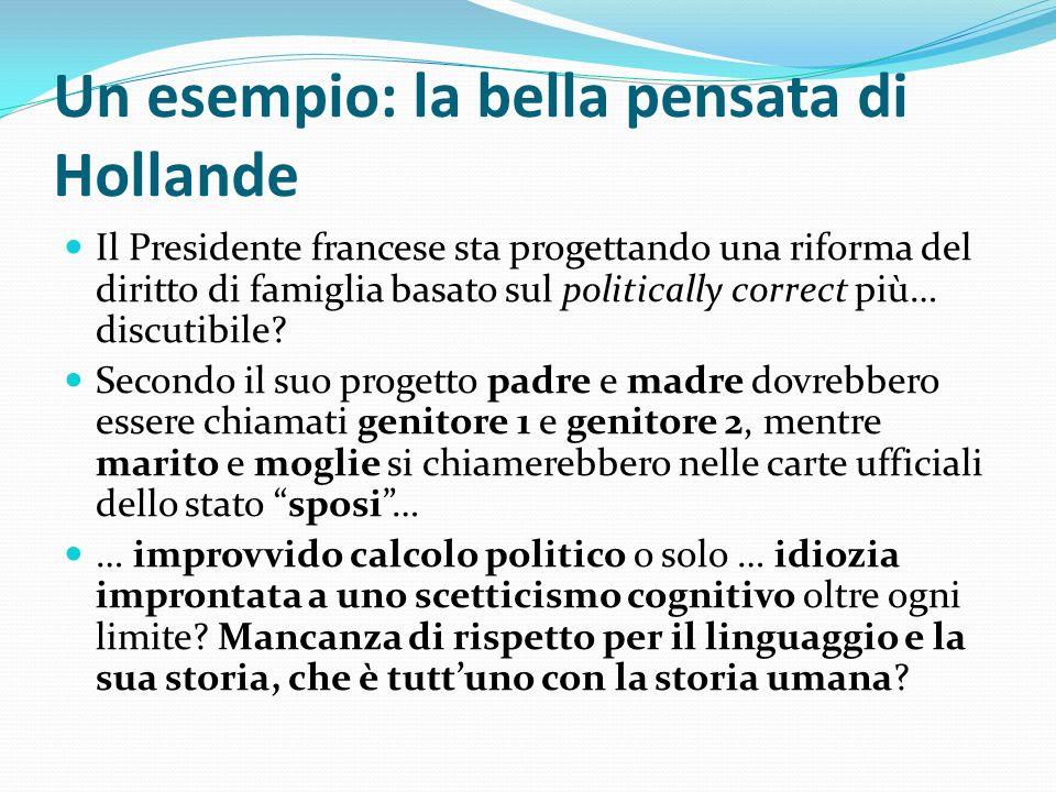 Un esempio: la bella pensata di Hollande