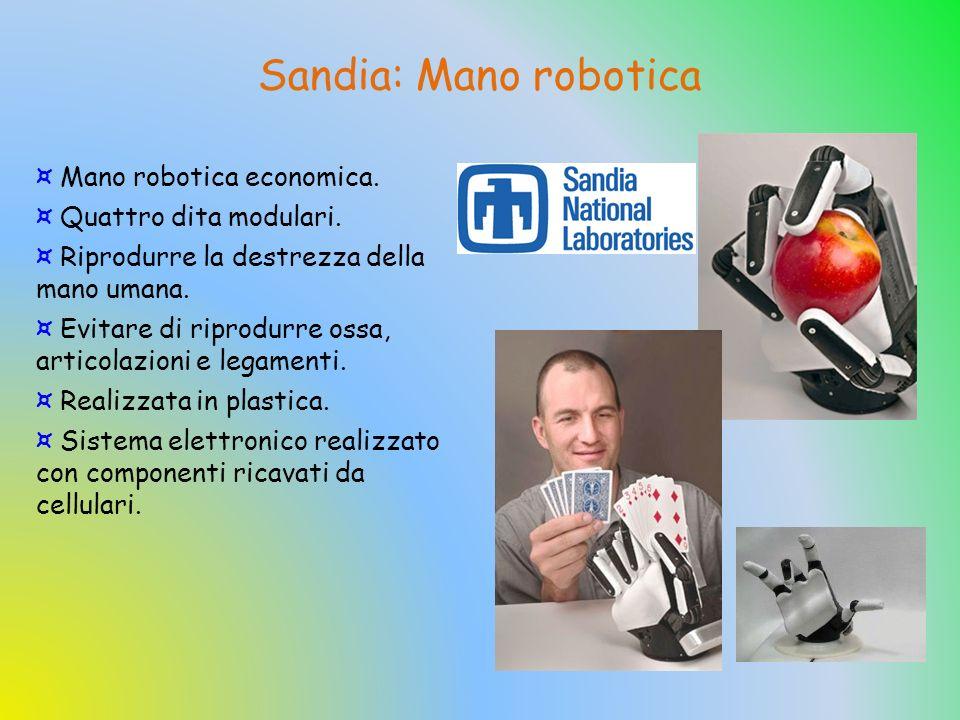 Sandia: Mano robotica Mano robotica economica. Quattro dita modulari.