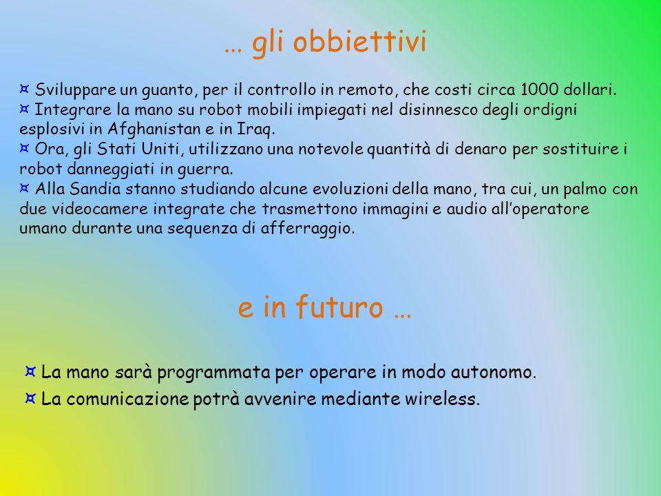 … gli obbiettivi e in futuro …