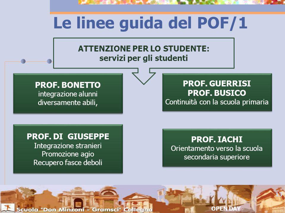 ATTENZIONE PER LO STUDENTE: servizi per gli studenti