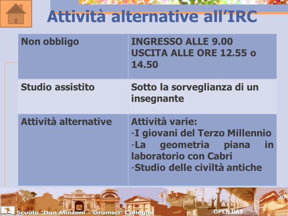 Attività alternative all'IRC