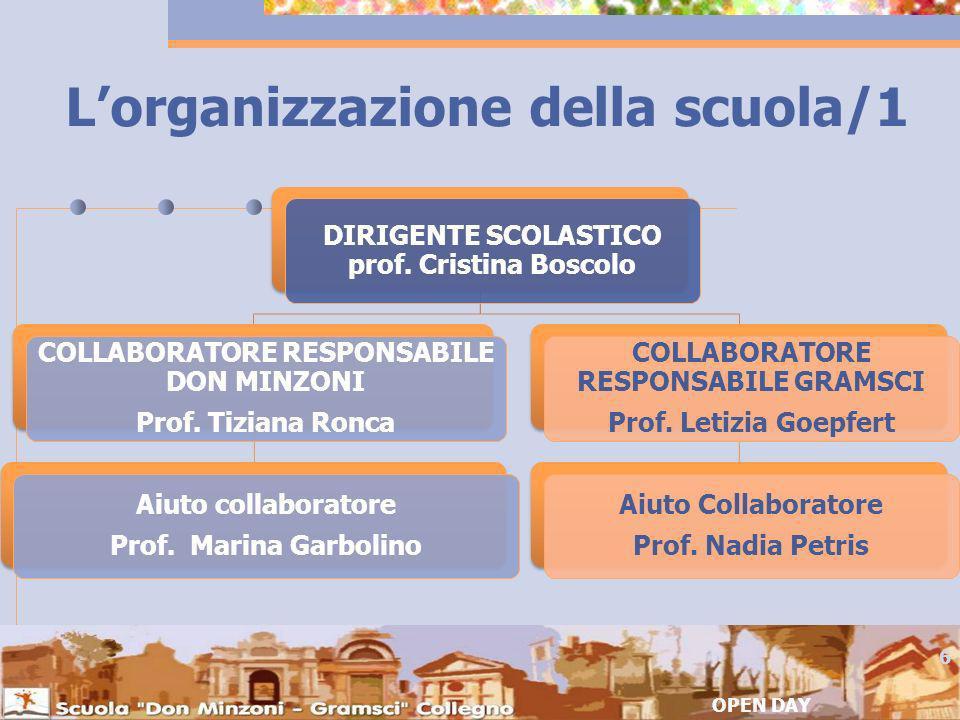 L'organizzazione della scuola/1