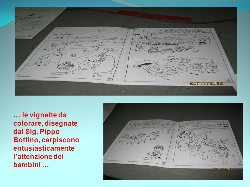 … le vignette da colorare, disegnate dal Sig