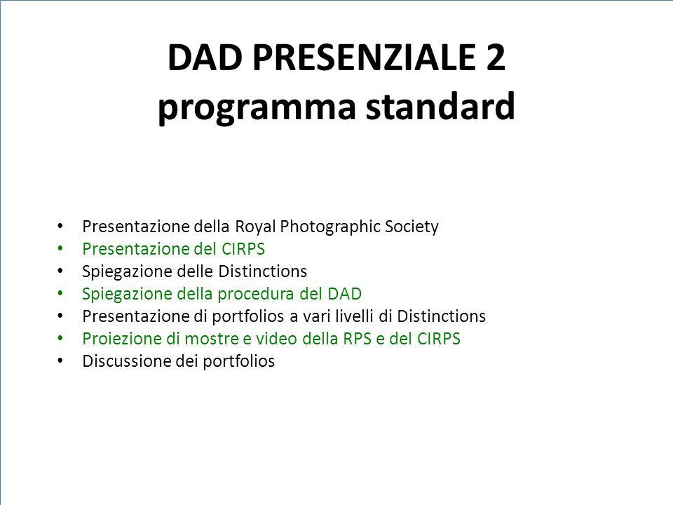 DAD PRESENZIALE 2 programma standard
