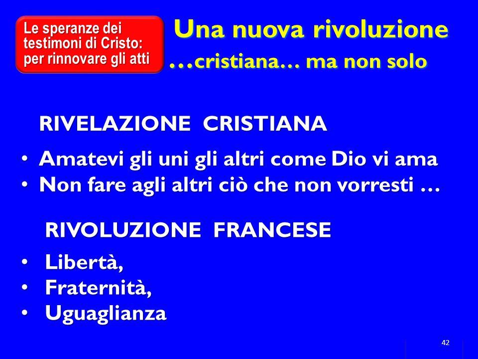 Una nuova rivoluzione …cristiana… ma non solo