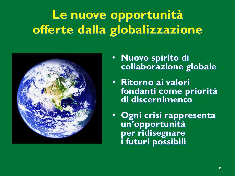 Le nuove opportunità offerte dalla globalizzazione
