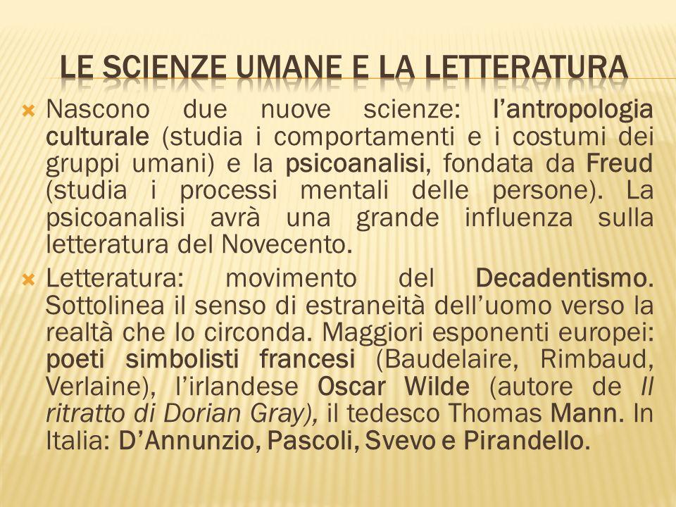 Le scienze umane e la letteratura