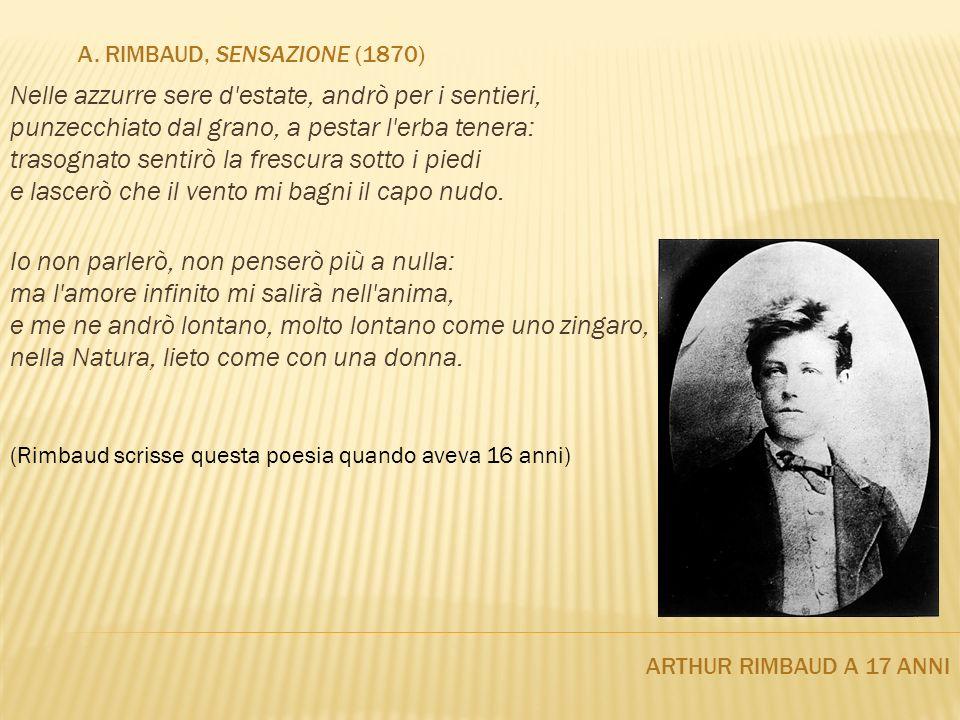 a. Rimbaud, Sensazione (1870)