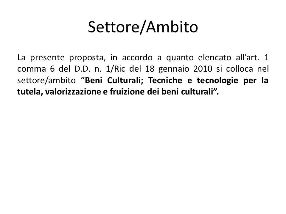Settore/Ambito