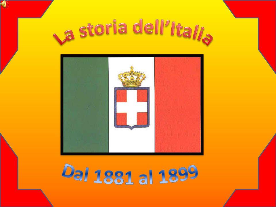 La storia dell'Italia Dal 1881 al 1899
