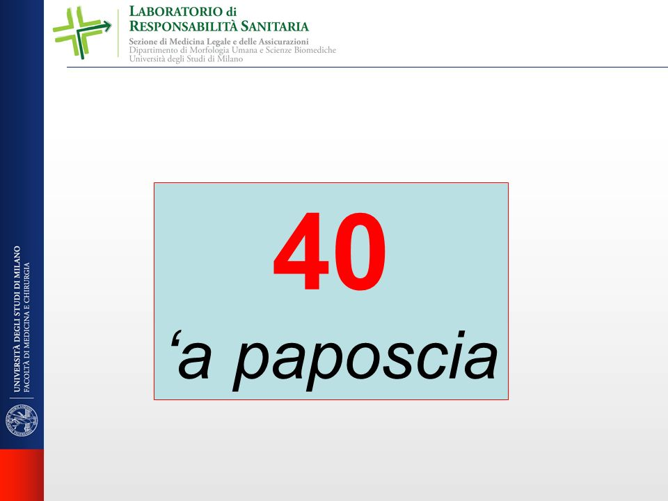 40 'a paposcia