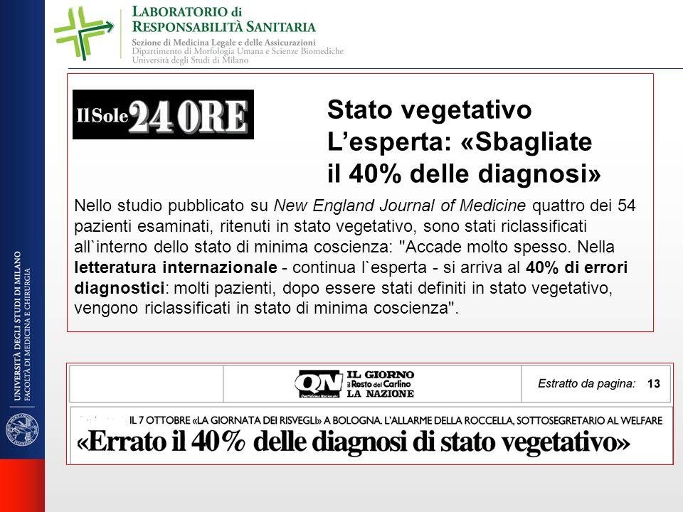 Stato vegetativo L'esperta: «Sbagliate il 40% delle diagnosi»