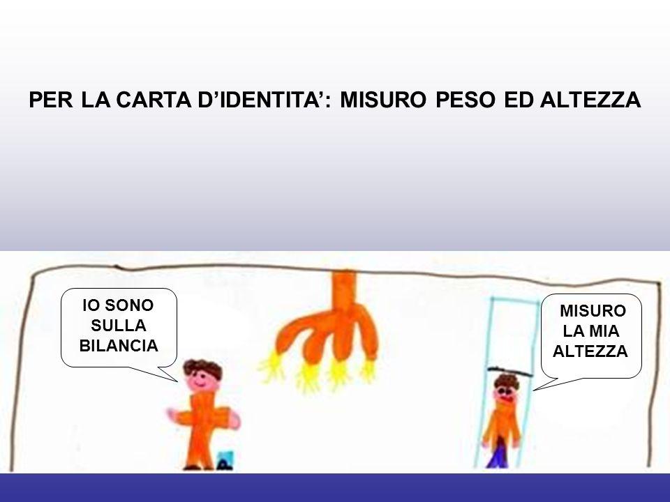 PER LA CARTA D'IDENTITA': MISURO PESO ED ALTEZZA