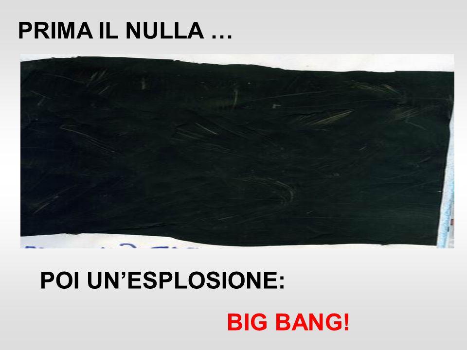 PRIMA IL NULLA … POI UN'ESPLOSIONE: BIG BANG!