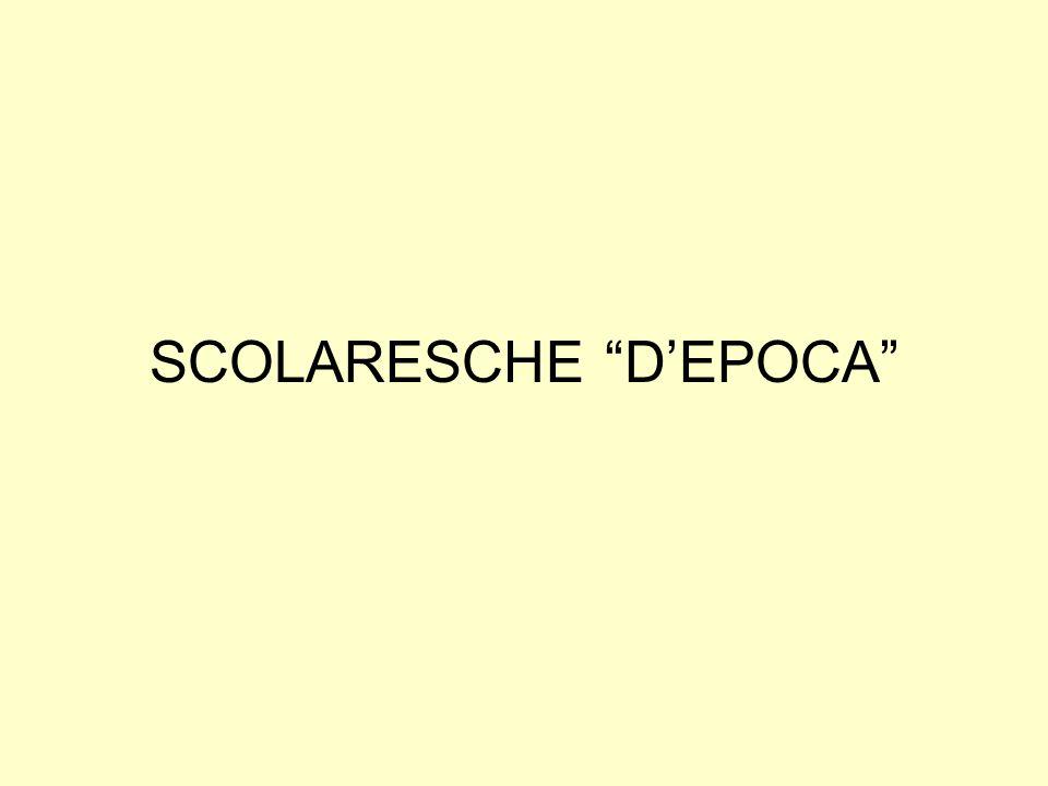 SCOLARESCHE D'EPOCA