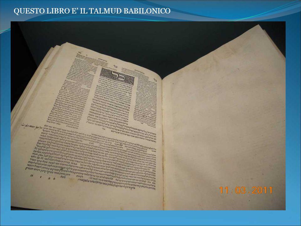 QUESTO LIBRO E' IL TALMUD BABILONICO