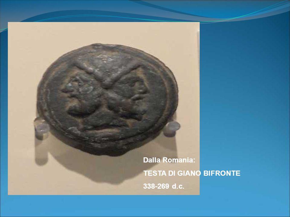 Dalla Romania: TESTA DI GIANO BIFRONTE 338-269 d.c.