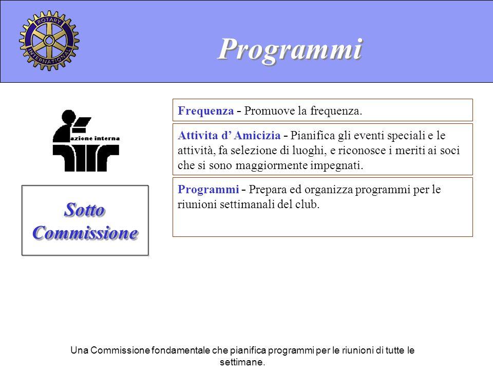 Programmi Sotto Commissione Frequenza - Promuove la frequenza.