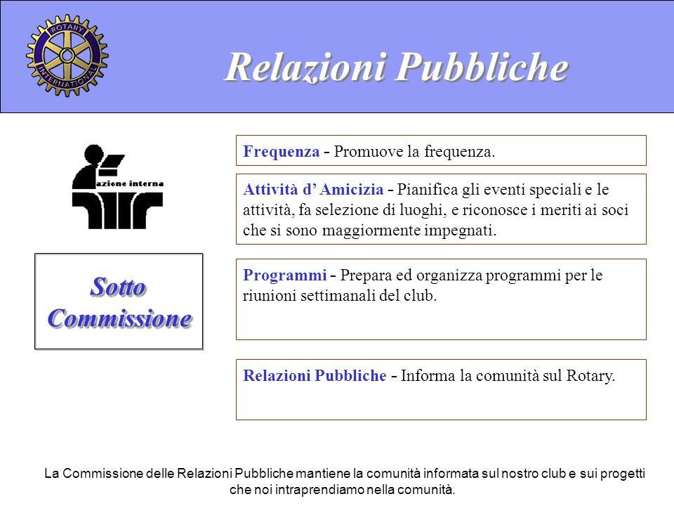 Relazioni Pubbliche Sotto Commissione