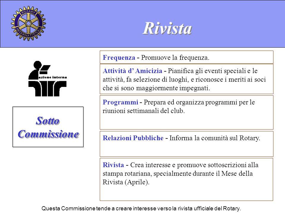 Rivista Sotto Commissione Frequenza - Promuove la frequenza.
