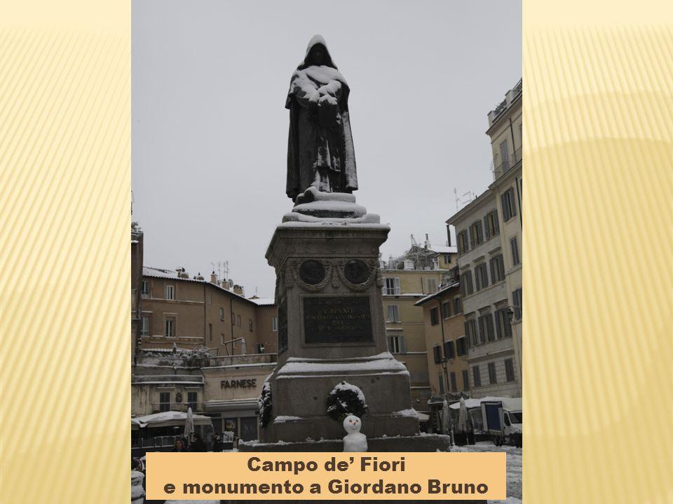 e monumento a Giordano Bruno