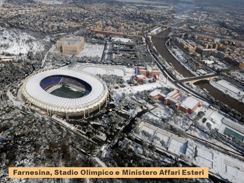 Farnesina, Stadio Olimpico e Ministero Affari Esteri